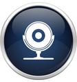 Blue webcam icon vector image