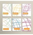 Colorful abstract lines on a white background vector image
