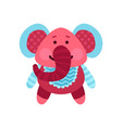 cute cartoon elephant animal toy colorful vector image