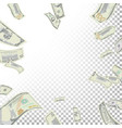 frame from flying dollar banknotes vector image