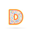 letter d in circle abstract logo design creative vector image