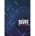 Night party vector image
