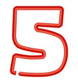 number five plastic tube icon cartoon style vector image