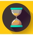 old vintage hourglass icon flat - time vector image