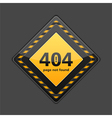 Page Not Found Sign vector image