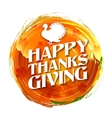 Invitation card for Happy Thanksgiving with turkey vector image vector image