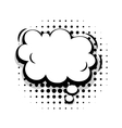 Template fun comic speech cloud bubble vector image