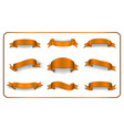 ribbons banners set satin blank collection vector image vector image
