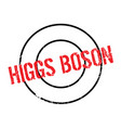 higgs boson rubber stamp vector image