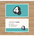 business card number 4 vector image