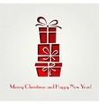 Christmas gift decoration background vector image vector image