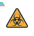 Flat design icon of biohazard vector image