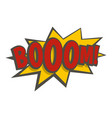 boom explosion icon isolated vector image
