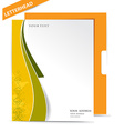 Business style templates vector image