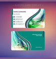 creative business card template with abstract vector image