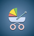 Icon baby stroller vector image