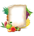 paper fruits vector image