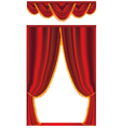 red stage curtain vector image