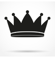 Silhouette simple symbol of classic royal king vector image