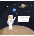 astronaut standing on the planet vector image