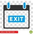 Exit Caption Calendar Day Eps Icon vector image