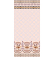 Vintage pink card finely patterned and wide border vector image vector image