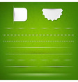 Green Texture With Dividers vector image vector image
