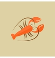 Lobster Food Flat Icon vector image vector image