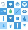 Dental hygiene Icon set vector image vector image