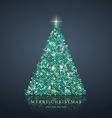 Merry Christmas tree from light background vector image