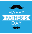 Greeting card design for Fathers day vector image
