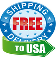 free shipping glossy web icon vector image