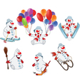 Cartoon of Funny Christmas Snowman vector image vector image