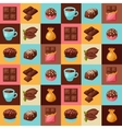 Chocolate seamless pattern with various tasty vector image