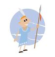 American Indian with spear in hand vector image
