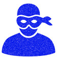 anonimious thief grunge icon vector image