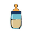 baby feeding bottle vector image