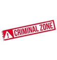 Criminal Zone rubber stamp vector image