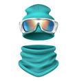 ski suit composition vector image