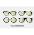 triangular sunglasses vector image