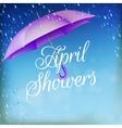 Umbrella in the rain EPS 10 vector image