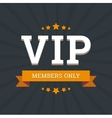 VIP - members only background card template with vector image