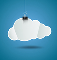 White paper cloud shape origami background vector image
