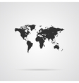 World Map Gray Icon vector image