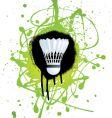 badminton splat vector image vector image
