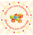 greeting card - alles gute zum geburtstag vector image