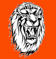 Roaring lion tattoo vector image