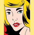 pop art woman vector image