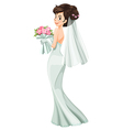 A beautiful bride vector image