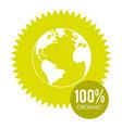 100 percent organic vector image